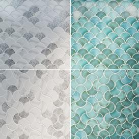 Fishscale 2 materials  2 patterns 3d model Download  Buy 3dbrute