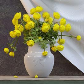 Flowers in a vase 3d model Download  Buy 3dbrute