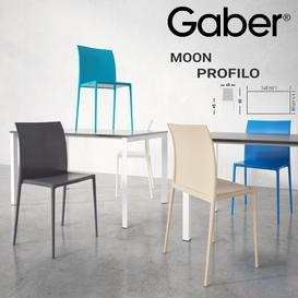 GABER Moon chair Profilo tablee 3d model Download  Buy 3dbrute