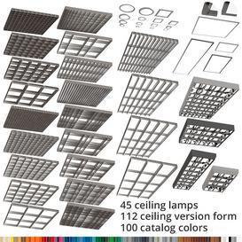 Grilyato raster suspended ceiling 3d model Download  Buy 3dbrute
