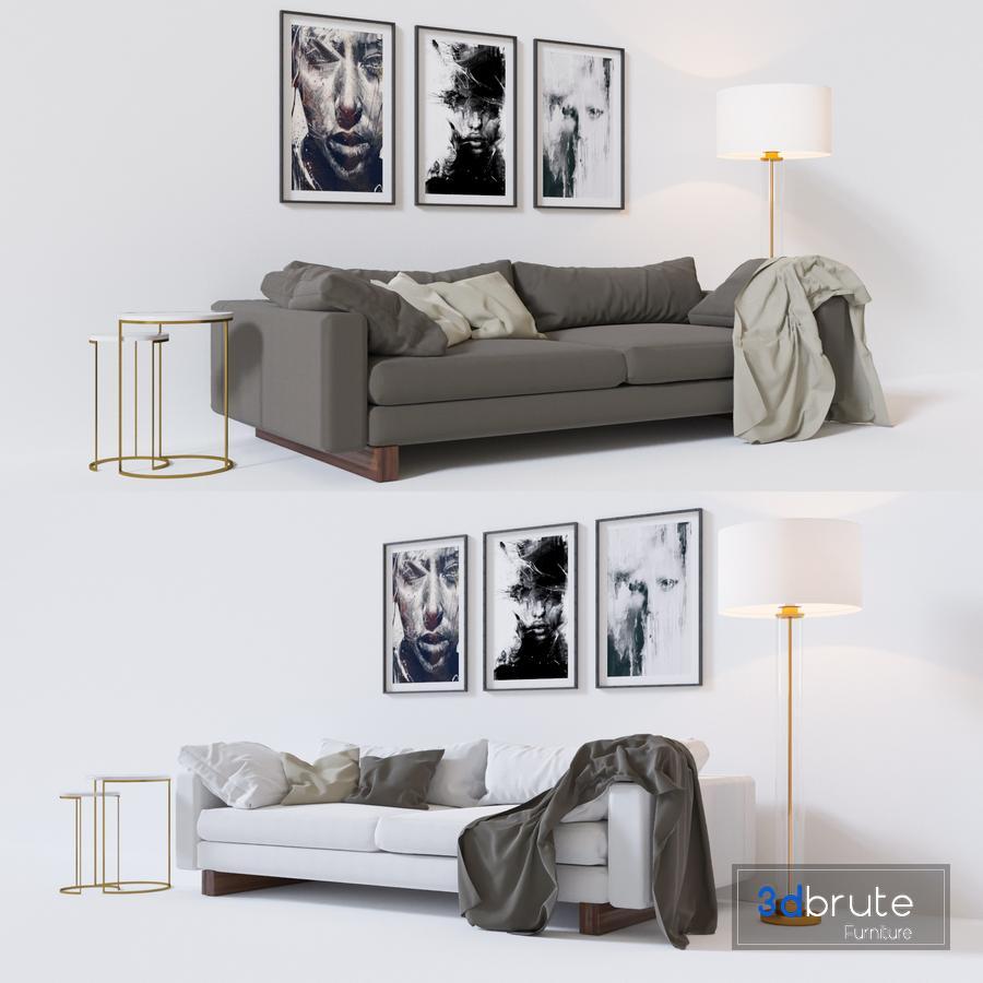 Harmony Sofa 92 3d Model Buy Download 3dbrute