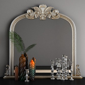 Haversham Overmantel Mirror 3d model Download  Buy 3dbrute