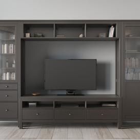 HEMNES TV storage combination 3d model Download  Buy 3dbrute