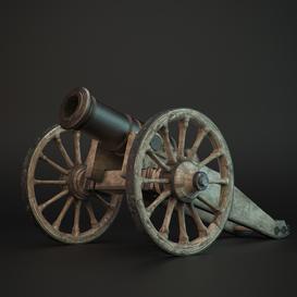 Howitzer 3d model Download  Buy 3dbrute