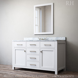 HUTTON SINGLE EXTRA-WIDE VANITY 3d model Download  Buy 3dbrute