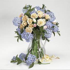 Hydrangea flowers 3d model Download  Buy 3dbrute