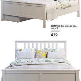 Ikea Hemnes bed 3 3d model Download  Buy 3dbrute