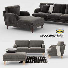 Ikea STOCKSUND sofa  chair  ottoman  chaise  sofa cover 3d model Download  Buy 3dbrute