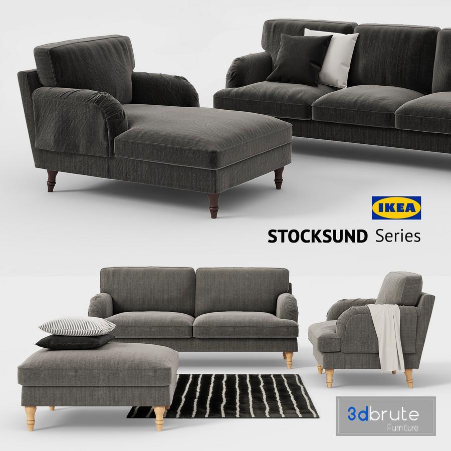 Ikea Stocksund Sofa Chair Ottoman