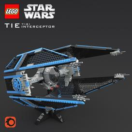 LEGO SW Tie Interceptor 3d model Download  Buy 3dbrute
