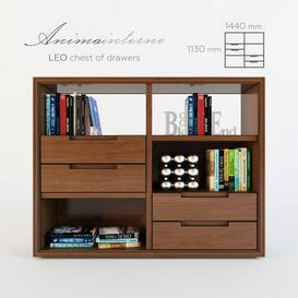 LEO - chest of drawers 3d model Download  Buy 3dbrute