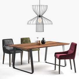 Ligne Roset: long island chair  vilna table  parachute lamp 3d model Download  Buy 3dbrute