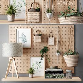 Maisons du Monde Decoration Set 3d model Download  Buy 3dbrute