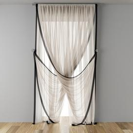 narrow window tulle 3d model Download  Buy 3dbrute