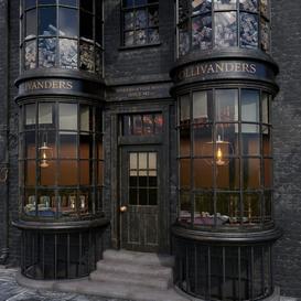 Ollivander's Wand Shop 3d model Download  Buy 3dbrute