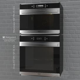 Oven FI7 891 - Microwave MP 796 by HotPoint 3d model Download  Buy 3dbrute