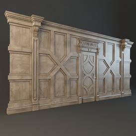 Panel with door 3d model Download  Buy 3dbrute