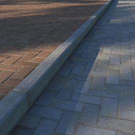 Paving slabs and curbs 3d model Download  Buy 3dbrute