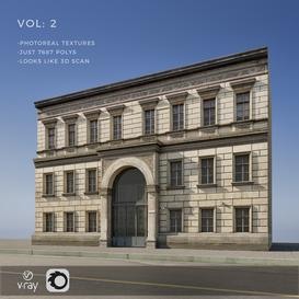 Photoreal facade for backgrounds vol 2 3d model Download  Buy 3dbrute