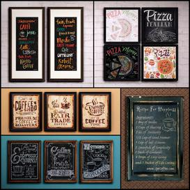 Picture in a frame collection 47 Bar theme 3d model Download  Buy 3dbrute