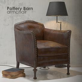 Pottery Barn armchair 3d model Download  Buy 3dbrute
