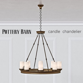 Pottery Barn Veranda Round Chandelier 3d model Download  Buy 3dbrute