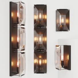 RH HARLOW CRYSTAL SCONCE  TRIPLE SCONCE 3d model Download  Buy 3dbrute