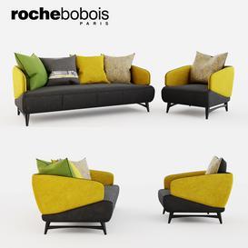 Roche Bobois Aries seat sofa & armchair 3d model Download  Buy 3dbrute