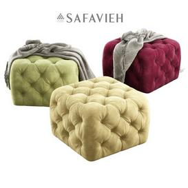 Safavieh   Kenan Ottoman 3d model Download  Buy 3dbrute
