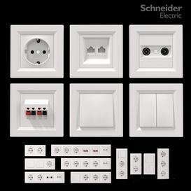 Schneider Asfora White 3d model Download  Buy 3dbrute