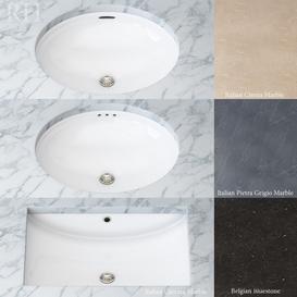 Set of sinks for bathroom 3d model Download  Buy 3dbrute