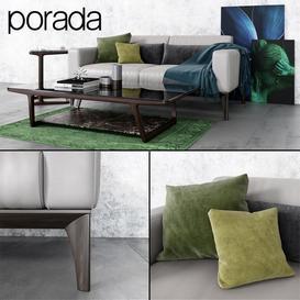 Sofa and tables Porada 3d model Download  Buy 3dbrute