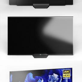 Sony AF8  OLED  4K Ultra HD   HDR   Smart TV  Android TV 3d model Download  Buy 3dbrute