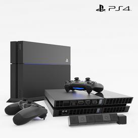 SONY PlayStation 4 3d model Download  Buy 3dbrute