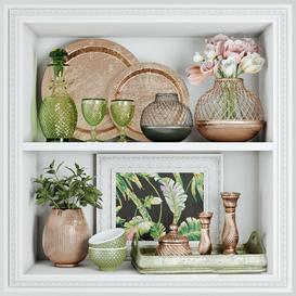Spring decorative set 3d model Download  Buy 3dbrute