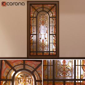Stained glass window Garden 3d model Download  Buy 3dbrute