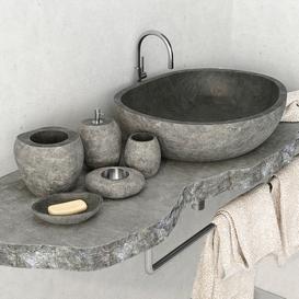 Stone washbasin 3d model Download  Buy 3dbrute
