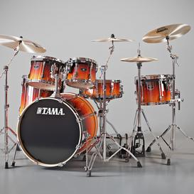 Tama Superstar Custom 3d model Download  Buy 3dbrute