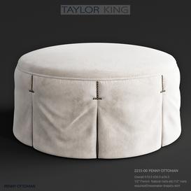 Taylor King Penny ottoman 3d model Download  Buy 3dbrute