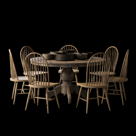 The dinette 3d model Download  Buy 3dbrute