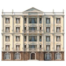 The facade is classic 3d model Download  Buy 3dbrute