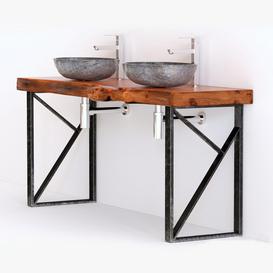 washbasin solid wood 3d model Download  Buy 3dbrute