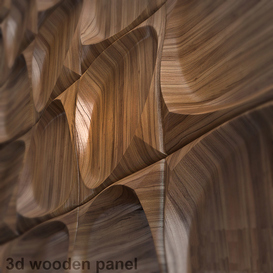 wooden 3d panel 2 3d model Download  Buy 3dbrute