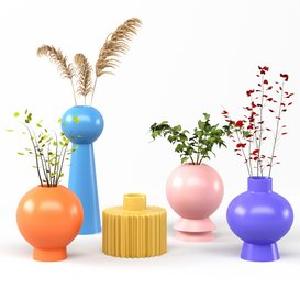 set vases-No1- DEI QI Simple Ceramic vase 3d model Download  Buy 3dbrute
