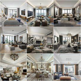 Living room vol5 2020 3d model Download  Buy 3dbrute