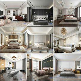 Bedroom vol5 2020 3d model Download  Buy 3dbrute