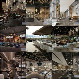 Restaurant 2020 3d model Download  Buy 3dbrute
