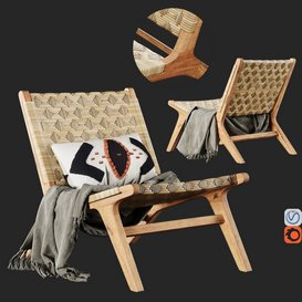 Havana Wicker Garden Armchair No5 Vray 3d model Download  Buy 3dbrute