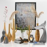 Decor Set No2 – by Metal Saguaro Cactus Sculpture