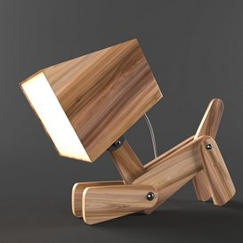 Dogi Adjustable Wooden Table Lamp 3d model Download  Buy 3dbrute